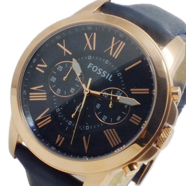 フォッシル FOSSIL グラント クオーツ メンズ クロノ 腕時計 時計 FS4835 ブラック