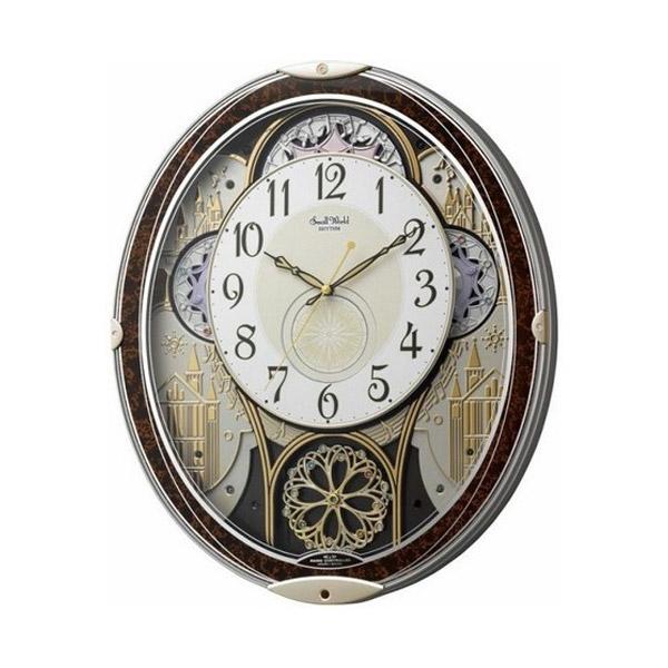 リズム RHYTHM 掛け時計 スモールワールドノエルN 電波からくり時計 4MN539RH23
