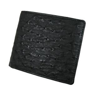 オーストリッチ 二つ折り札入れ カード札 財布 日本製