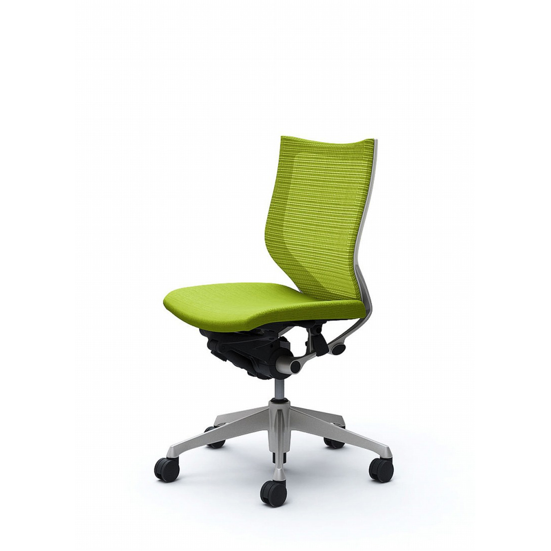 バロン オフィスチェア CP33DW 【ローバック 肘なし 座クッション シルバー ホワイトフレーム:シルバー ホワイトフレーム】(代引不可)【送料無料】