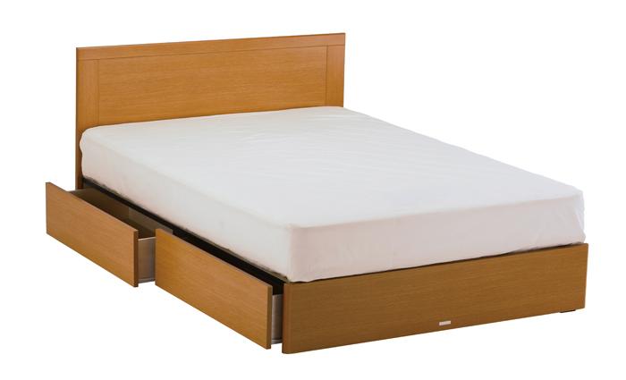 ASLEEP アスリープ ベッドフレーム ダブルサイズ マリン FY25H3DC ナチュラル 引出し付き アイシン精機 ベッド(代引不可)【送料無料】【S1】