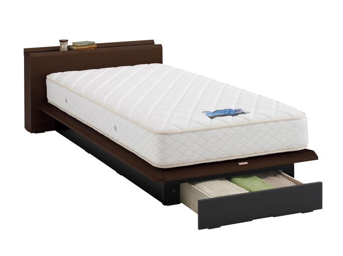 ASLEEP アスリープ ベッドフレーム セミダブルサイズ テーベ FY8212EC ダークブラウン 引出し付き アイシン精機 ベッド(代引不可)【送料無料】