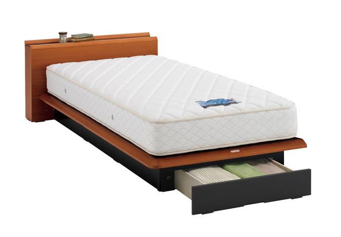 ASLEEP アスリープ ベッドフレーム シングルサイズ テーベ FY8231EC チェリー 引出し付き アイシン精機 ベッド(代引不可)【送料無料】【int_d11】
