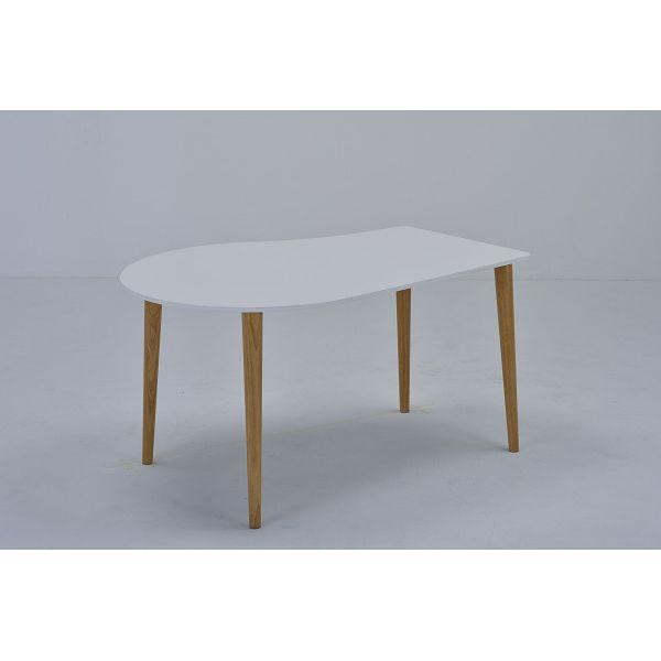 ミキモク ダイニングテーブル サライ ホワイト ナチュラル 130cm DT-133398PUW L-0398TNA 【2梱包】(代引不可)【送料無料】【int_d11】