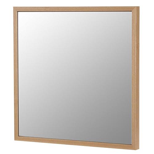 塩川光明堂 国産 ウォールミラー フィル スクエア NA ナチュラル ミラー 鏡(代引不可)【送料無料】