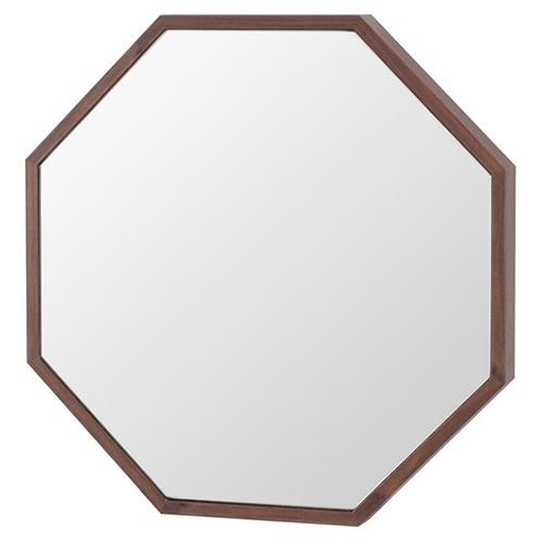 塩川光明堂 国産 ウォールミラー フィル エイト DB ダークブラウン ミラー 鏡(代引不可)【送料無料】