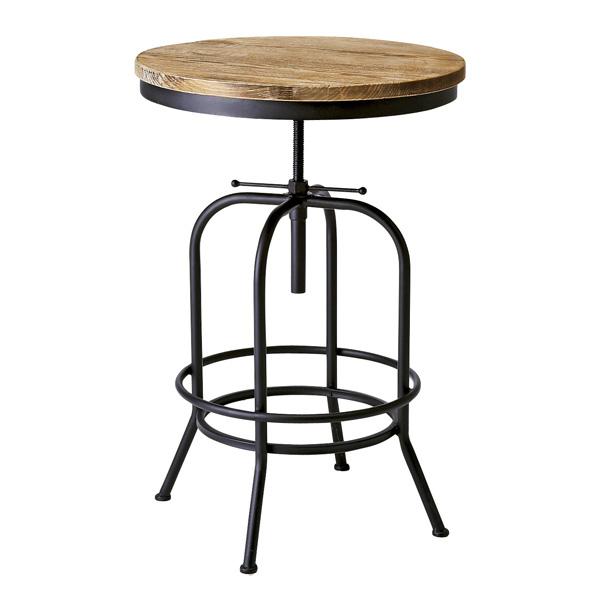 バーテーブル INDUSTRIAL(インダストリアル) テーブル センターテーブル 丸テーブル カウンター テーブル コーヒーテーブル(代引不可)【送料無料】