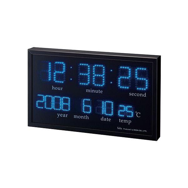 ノア精密 アギラ FEW120 BK 大型デジタルLED掛時計 felio【送料無料】