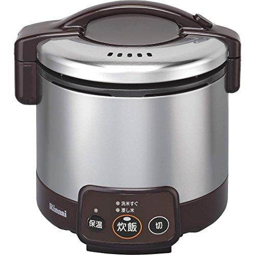 リンナイ ガス炊飯器 こがまる RR-030VM(DB) 13A 【都市ガス】 3合炊き(代引不可)【送料無料】【S1】