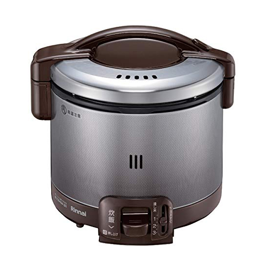 リンナイ ガス炊飯器 0.5~3合 こがまる RR-030FS(DB)-13A 都市ガス ダークブラウン 計量カップ付【送料無料】