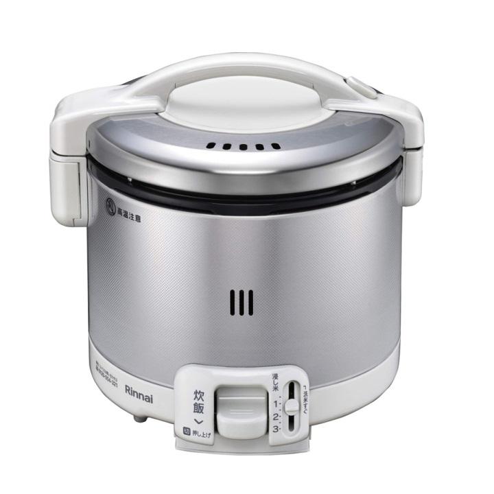 リンナイ ガス炊飯器 0.5~3合 こがまる RR-030FS(W)-13A 都市ガス グレイッシュホワイト 計量カップ付【送料無料】【S1】
