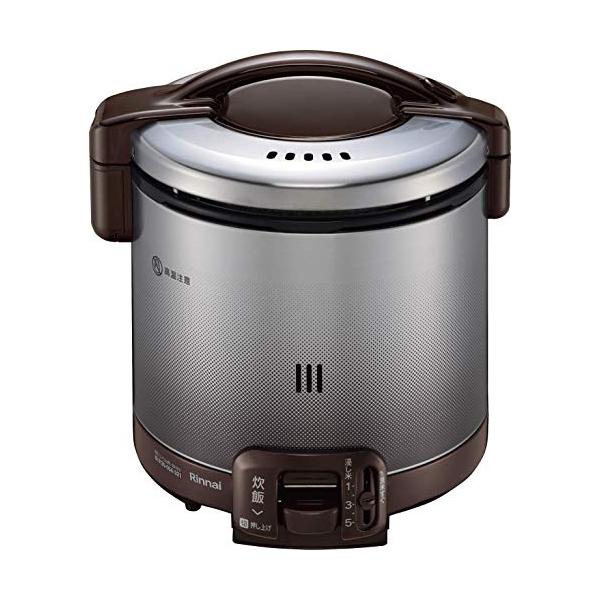 リンナイ ガス炊飯器 1~5合 こがまる RR-050FS(DB)-LPG プロパンガス(LPガス) ダークブラウン 計量カップ付【送料無料】