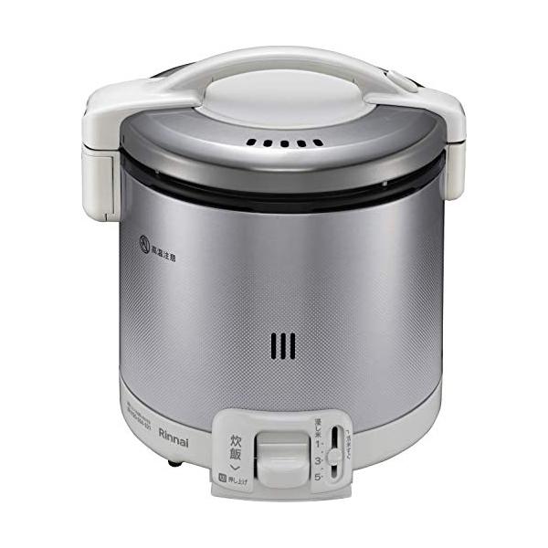 リンナイ ガス炊飯器 1~5合 こがまる RR-050FS(W)-13A 都市ガス グレイッシュホワイト 計量カップ付【送料無料】