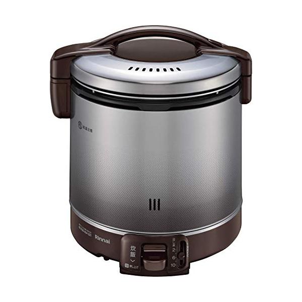 リンナイ ガス炊飯器 2~10合(1升) こがまる RR-100FS(DB)-13A 都市ガス ダークブラウン 計量カップ付【ポイント10倍】