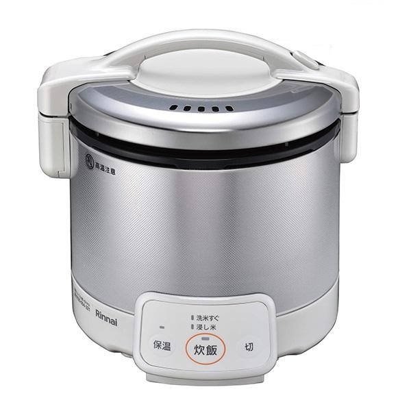 リンナイ 電子ジャー付 ガス炊飯器 0.5~3合 こがまる RR-030VQ(W)-13A 都市ガス グレイッシュホワイト【送料無料】【S1】