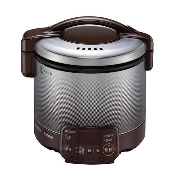 リンナイ タイマー付 ガス炊飯器 0.5~3合 こがまる RR-030VQT(DB)-LPG プロパンガス(LPガス) ダークブラウン【送料無料】【S1】