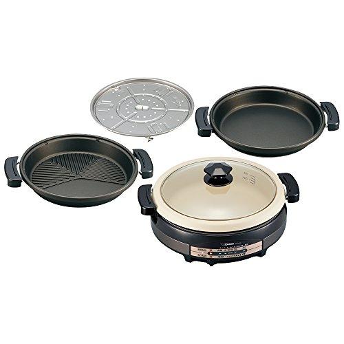 象印 グリル鍋 あじまる EP-RV30-TA ブラウン 電気鍋 なべ1個+プレート3枚【送料無料】【S1】