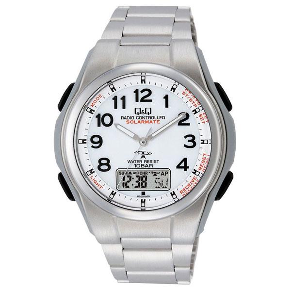 【CITIZEN】シチズン Q&Q 電波ソーラー メンズ腕時計MD02-204 SOLARMATE (ソーラーメイト) /1点入り(代引き不可)