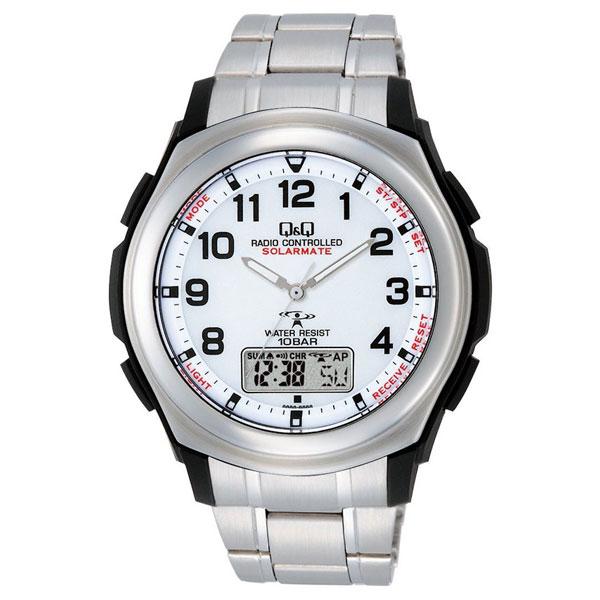 【CITIZEN】シチズン Q&Q 電波ソーラー メンズ腕時計MD04-204 SOLARMATE (ソーラーメイト) /5点入り(代引き不可)