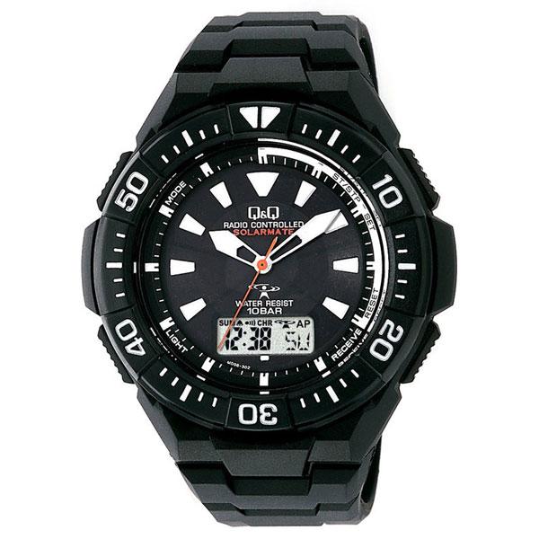 【CITIZEN】シチズン Q&Q 電波ソーラー メンズ腕時計MD06-302 SOLARMATE (ソーラーメイト) /5点入り(代引き不可)