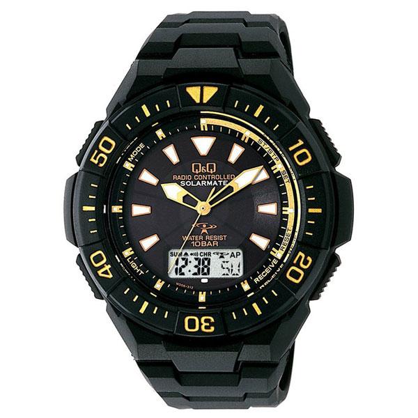 【CITIZEN】シチズン Q&Q 電波ソーラー メンズ腕時計MD06-312 SOLARMATE (ソーラーメイト) /5点入り(代引き不可)