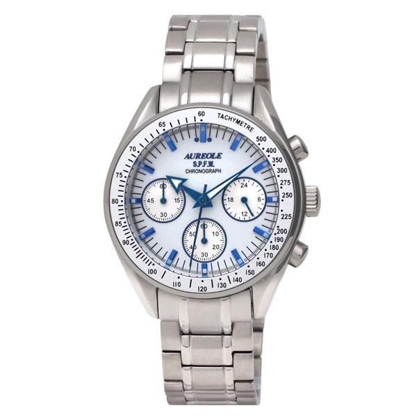【AUREOLE】オレオール メンズ腕時計 SW-582M-3 アナログ表示 クロノグラフ 24時間表示付 10気圧防水 /10点入り(代引き不可)