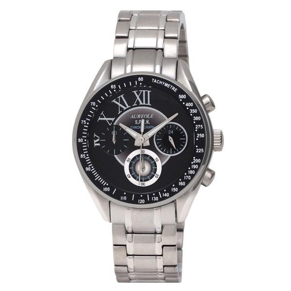 【AUREOLE】オレオール メンズ腕時計 SW-582M-4 アナログ表示 クロノグラフ 24時間表示付 10気圧防水 /10点入り(代引き不可)