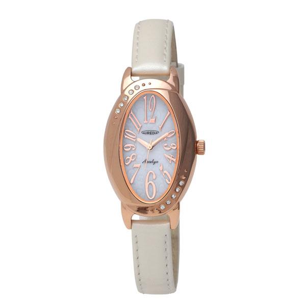 【AUREOLE】オレオール レディース腕時計 SW-583L-3 アナログ表示 ソーラー 日常生活用防水 /5点入り(代引き不可)