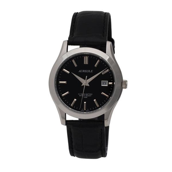 【AUREOLE】オレオール メンズ腕時計 SW-409M-6 アナログ表示 曜日付 10気圧防水 /10点入り(代引き不可)