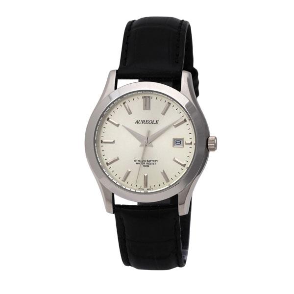【AUREOLE】オレオール メンズ腕時計 SW-409M-7 アナログ表示 曜日付 10気圧防水 /10点入り(代引き不可)