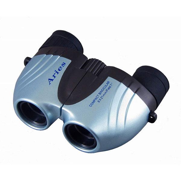 【MIZAR-TEC】ミザールテック 8倍21ミリ口径 コンパクト双眼鏡CB-202BL ライトブルー /10点入り(代引き不可)