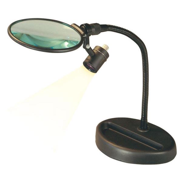 スタンドルーペ 倍率2.5倍 レンズ径100mm フレキシブルアーム LEDライト付き 日本製 100GM-LED /5点入り(代引き不可)【送料無料】