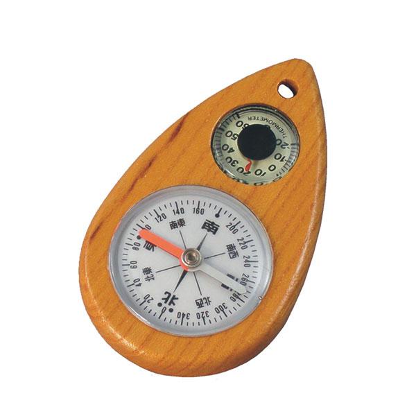 【MIZAR-TEC】ミザールテック オイル式 けやきコンパス 夜光温度計付 ブラウン 日本製 W-2 /10点入り(代引き不可)