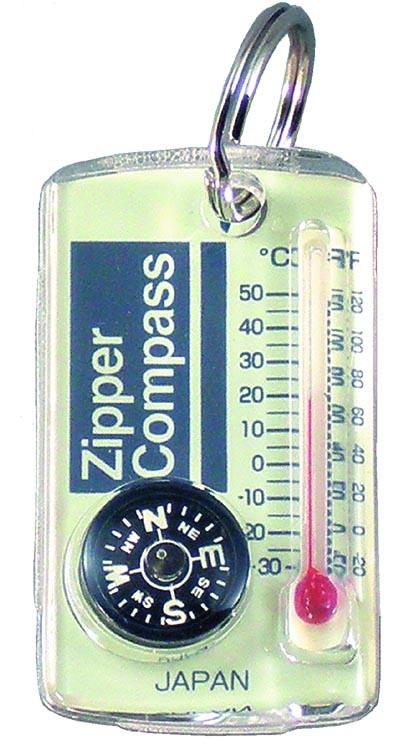 【MIZAR-TEC】ミザールテック ジッパーコンパス 温度計付 クリア 日本製 NO15A /40点入り(代引き不可)