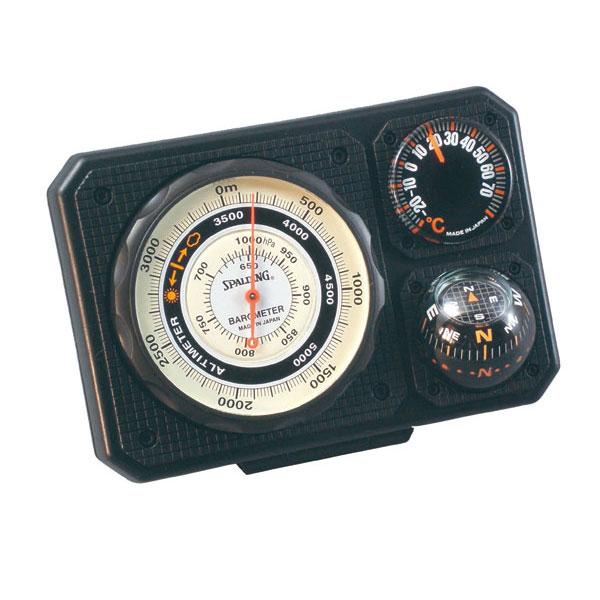 【SPALDING】スポルディング 気圧表示付高度計 ブラック 日本製 NO1230 /20点入り(代引き不可)【inte_D1806】