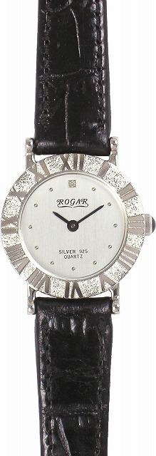 【ROGAR】ローガル レディース腕時計 RO-006LB 銀製品 日常生活用防水(日本製) /1点入り(代引き不可)