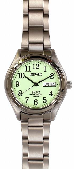 【ROGAR】ローガル メンズ腕時計 RO-040M-RS 銀製品 20気圧防水(日本製) /5点入り(代引き不可)