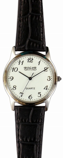 【ROGAR】ローガル メンズ腕時計 RO-055MB-S1 日常生活用防水(日本製) /5点入り(代引き不可)
