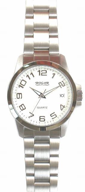【ROGAR】ローガル メンズ腕時計 RO-059M-WS 10気圧防水(日本製) /10点入り(代引き不可)