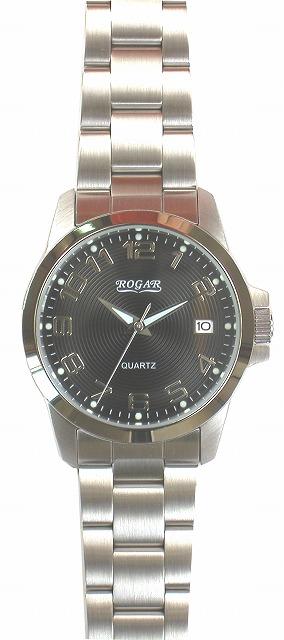 【ROGAR】ローガル メンズ腕時計 RO-059M-BS 10気圧防水(日本製) /10点入り(代引き不可)
