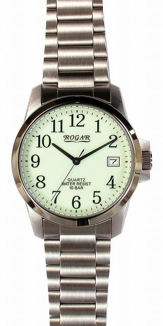 【ROGAR】ローガル メンズ腕時計 RO-059M-RS 10気圧防水(日本製) /10点入り(代引き不可)