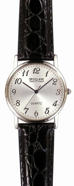【ROGAR】ローガル メンズ腕時計 RO-060MB-01 日常生活用防水(日本製) /1点入り(代引き不可)