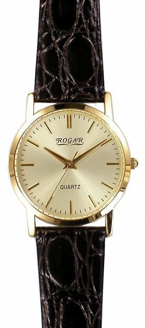 【ROGAR】ローガル メンズ腕時計 RO-060MA-B5 日常生活用防水(日本製) /10点入り(代引き不可)