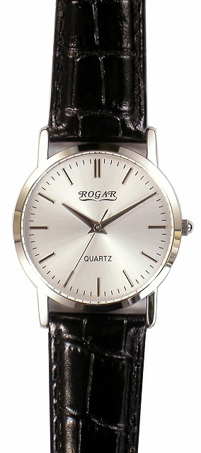 【ROGAR】ローガル メンズ腕時計 RO-060MB-B1 日常生活用防水(日本製) /10点入り(代引き不可)