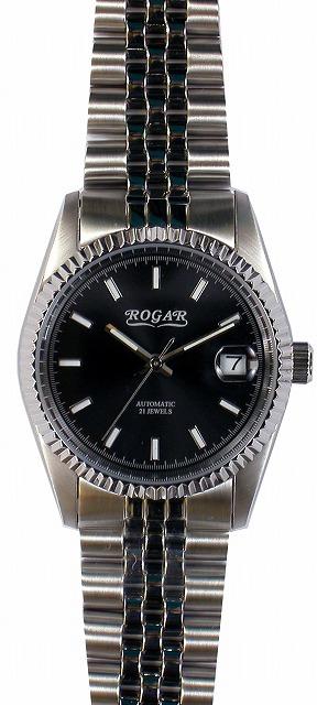【ROGAR】ローガル メンズ腕時計 RO-061M-BB 10気圧防水(日本製) /10点入り(代引き不可)