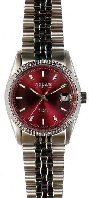 【ROGAR】ローガル メンズ腕時計 RO-061M-RB 日常生活用防水(日本製) /5点入り(代引き不可)