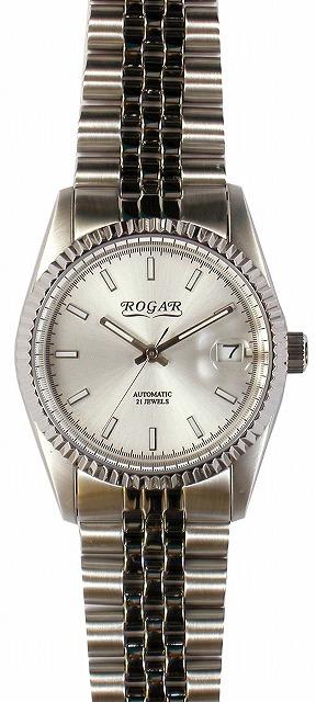 【ROGAR】ローガル メンズ腕時計 RO-061M-WB 日常生活用防水(日本製) /10点入り(代引き不可)