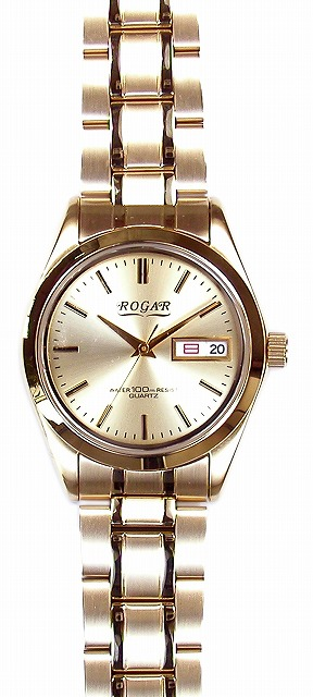 【ROGAR】ローガル メンズ腕時計 RO-064MA-B 10気圧防水(日本製) /1点入り(代引き不可)