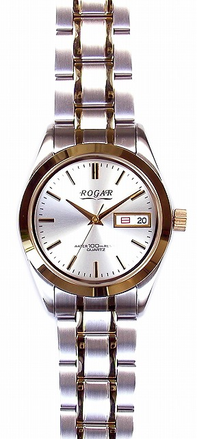 【ROGAR】ローガル メンズ腕時計 RO-064MC-B 10気圧防水(日本製) /10点入り(代引き不可)