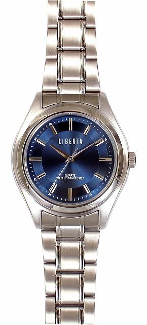 【LIBERTA】リベルタ メンズ腕時計 LI-032M-BU 10気圧防水(日本製) /5点入り(代引き不可)